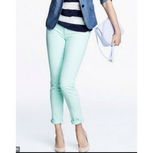 J. Crew Mint Green Jeans Toothpick Ankle size 31